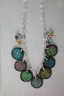 Rainbow Necklace (reversible)/ product back view
