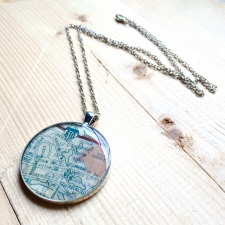 City Park Map Necklace
