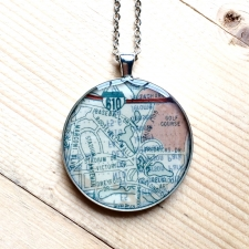 City Park Map Necklace / Main Image