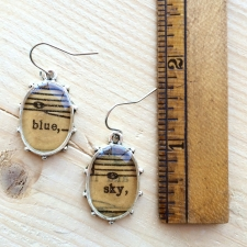 Blue Sky Sheet Music Earrings