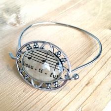 Beautiful Sheet Music Bracelet