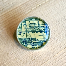 Uptown Map Bolo Tie Clip / Main Image