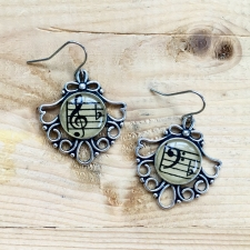 Fancy Treble & Bass Clef Earrings / Main Image