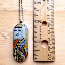 Classic King Playing Card Pendant