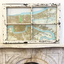 New Orleans at Large Painting on Fire Place
