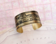 French Quarter (Toulouse St.) Etched Cuff Bracelet / Main Image
