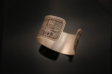Nine Muses Etched Cuff Bracelet