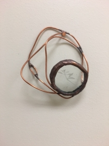Oregano Enverre Copper Wire Wall Sculpture