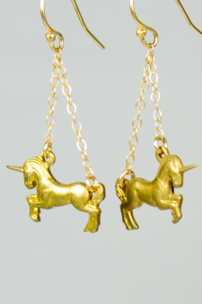 Frolicking Unicorn Earrings / Main Image