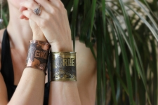 New Orleans Etched Copper Cuff Bracelet / Main Image