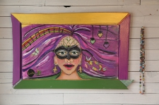Mardi Gras Muse / on wall
