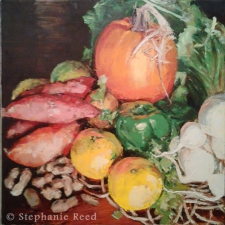 November (Pumpkin, Satsumas, Peanuts, etc) - Blank Note Card / Main Image