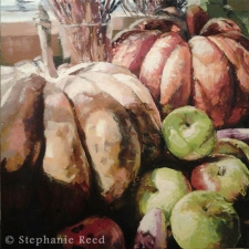 October (Pumpkins and Apples) - Blank Note Card / Main Image