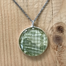 Uptown Map Necklace in Green / Main Image