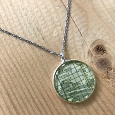 Uptown Map Necklace in Green