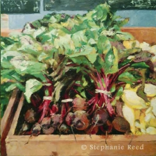June (Beets, Summer Squash) - Blank Note Card / Main Image
