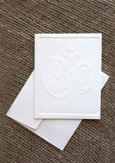 Embossed Notecards - Om / Main Image