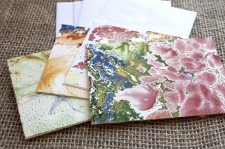 Marbled Note Cards A/ product view