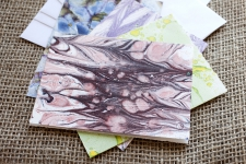 Marbled Note Cards / sodalite / Main Image