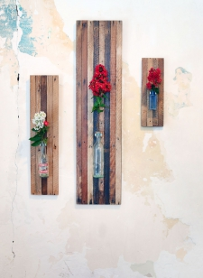 Lath Board Wall Vase Collection (pictured medium, large & small)