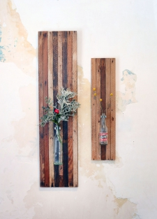 Large & Medium Lath Board Wall Vase