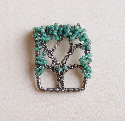 Oak Tree Pin - Aventurine