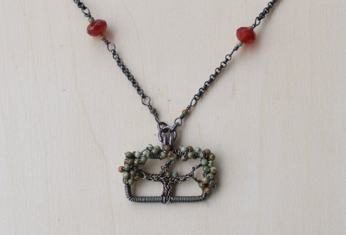 Oak Tree Necklace - Rhyolite