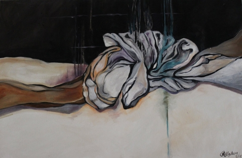 Inseparable, No. 2 (knotted cloth series)