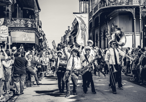 Big Fun Brass Band - Mardi Gras Season 2018 (B&W)
