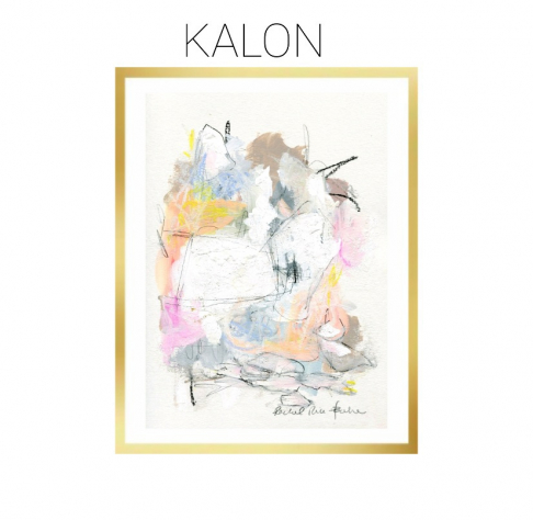 Kalon - Archival Print of Mixed Media Abstract on Watercolor Paper