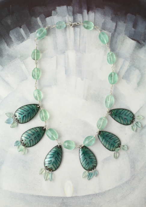 Fluorite Leaf Necklace