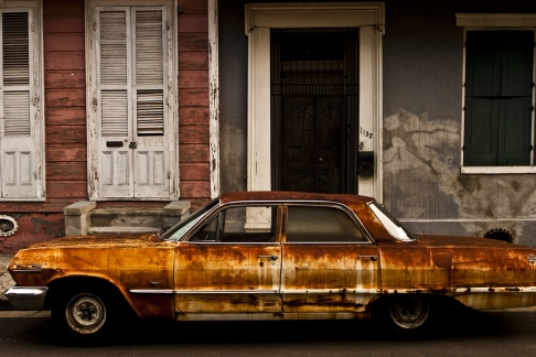Rusted Car in the French Quarter