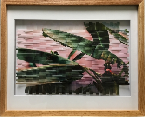 Afternoon- woven photo framed in oak