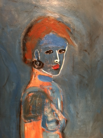 Girl in Blue Face