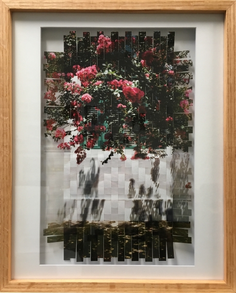 Crepe Myrtle Photo-weaving framed in Oak.