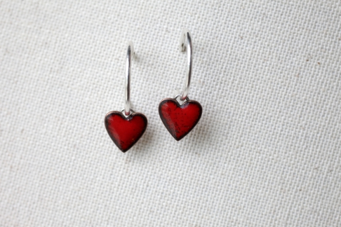 Teeny Tiny Heart Hoops