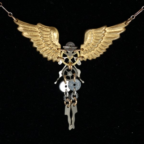 Clockwork Seraphim Necklace