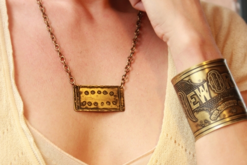 Congo Square Etched Necklace