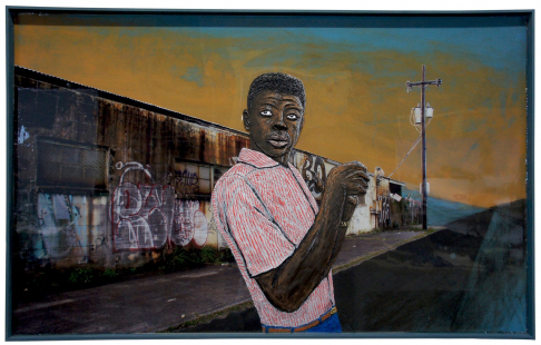 Terrance Strikes a Pose on Lafitte Street
