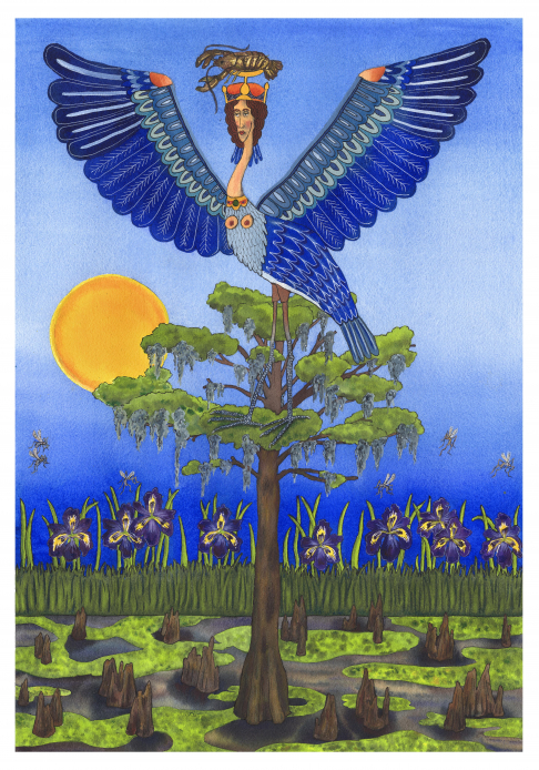 Louisiana Mythology : Blue Heron Alkonost