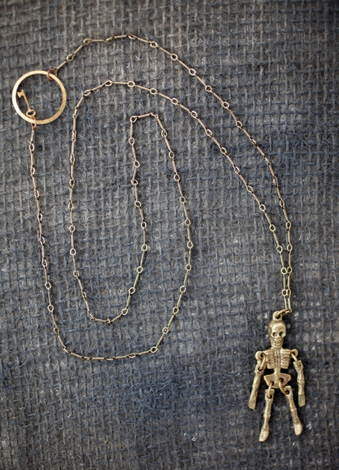 Tiny Dancer Skeleton Key Necklace