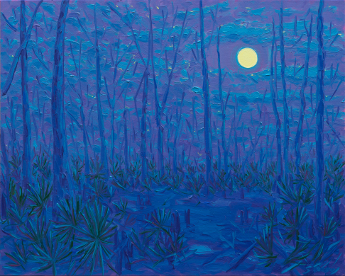 Harvest Moon at Jean Lafitte Swamp