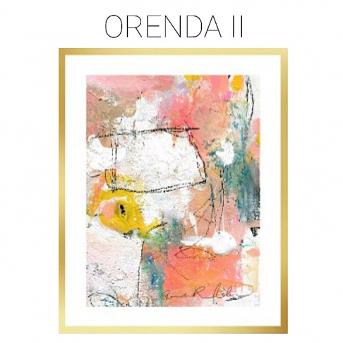 Orenda II - Archival Print of Mixed Media Abstract on Watercolor Paper