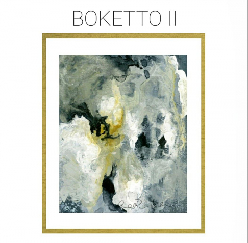 Boketto II - Archival Print of Mixed Media Abstract on Watercolor Paper