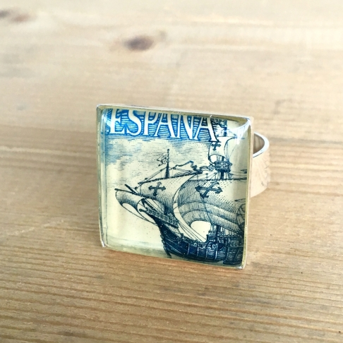 Spanish Ship Stamp Ring