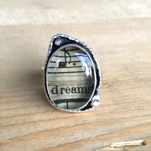 Dreams Sheet Music Ring
