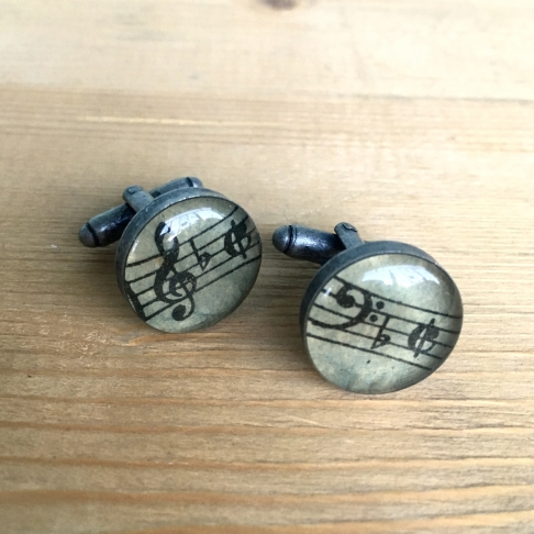 Treble & Bass Sheet Music Cufflinks