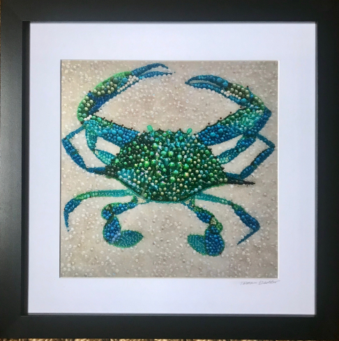 Blue Crab ~ Metallic Lustre Fine Art Print