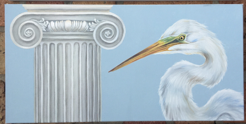 Ionic Great Egret