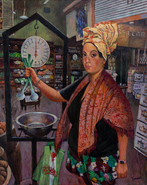The Persistence of Justice, (or Marie Laveau Making Groceries at Rouses)